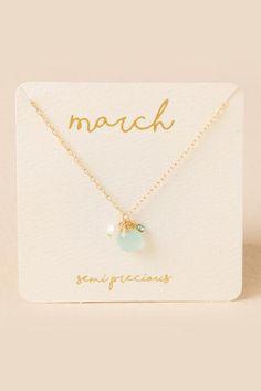 March MAMAS! #Francescas March Birthstone Charm Pendant $20.00