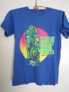 Teenage Mutant Ninja Turtles The Movie Tee T Shirt Vintage Mirage Studios 1990 | eBay