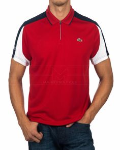 Lacoste Polo Sport Shirt Red - Phare ecc88fbc15ae1