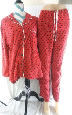 Soft Ellen Tracy Women's Size XL Dots Fleece Pajama Set Roomy | Clothing, Shoes & Accessories, Women's Clothing, Intimates & Sleep | eBay!
