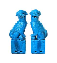 Chinoiserie - Turquoise Foo Dogs
