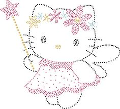 ANGEL HELLO KITTY - I know, not plastic canvas, but I want to try!