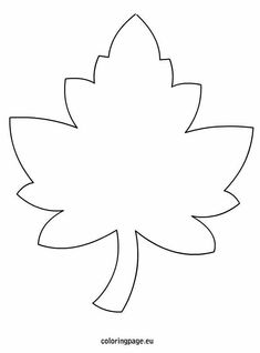 Maple Leaf Template-Letter L Leaf Coloring Page, Coloring For Kids, Coloring Pages, Felt Crafts, Diy And Crafts, Crafts For Kids, Paper Crafts, Felt Flowers, Paper Flowers