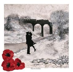 Home For Christmas - from the War Poppy Collection 1939-1945 by Jacqueline Hurley High quality fine art print in remembrance of Our Heroes by PortOutStarboardHome on Etsy https://www.etsy.com/uk/listing/478983076/home-for-christmas-from-the-war-poppy