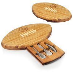 Pittsburgh Steelers Cheese Board With Cheese Tools - Quarterback by Picnic Time