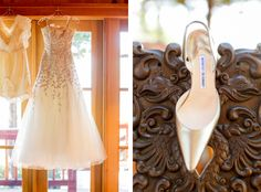 @cherrerany wedding dress paired with manolo blahnik