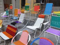 Patio inspiration! Franceso Jodice chairs at Milan 2012