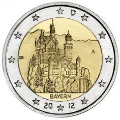 Neuschwanstein on a commemorative 2-euro coin