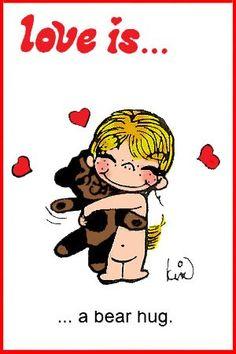 love is... abear hug