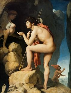 Jean-Auguste-Dominique Ingres | Oedipus and the Sphinx, 1808