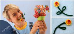 Cute-as-a-Button Flower Arrangements on sophie-world.com #button #craft @DIY #flower
