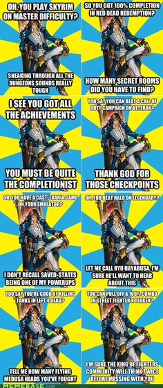 Condescending Castlevania. I might not have played very many Castlevania games, (only Lament of Innocence. Like half of it) but this make me laugh so hard. I sort of know what he is talking about. I did my homework in Castlevania.