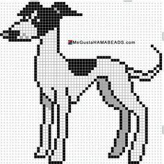 Hama Beads Galgo Dog Pattern