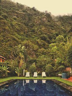 Hotel in Banos Ecuador poolside
