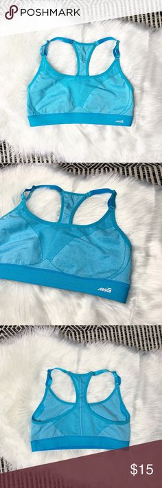 AVIA Woman Sport Bra 12-14 Multicolor Geometric Reflective Stretch