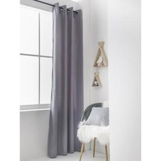 TODAY Rideau isolant STOCKHOLM QUARTZ 140x240 cm gris - Achat / Vente rideau - Cdiscount Insulated Curtains, Home Staging, Insulation, Girl Room, Stockholm, Quartz, Bedroom, Decoration, House