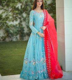 Stylish Dresses For Girls, Frocks For Girls, Stylish Dress Designs, Stylish Gown, Dress Indian Style, Indian Fashion Dresses, Indian Designer Outfits, Indian Outfits, Girls Frock Design