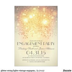 glitter string lights vintage engagement party