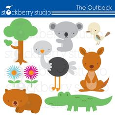 The Outback- Australian Animals Personal and Commecial Use Clipart. $5.00, via Etsy.