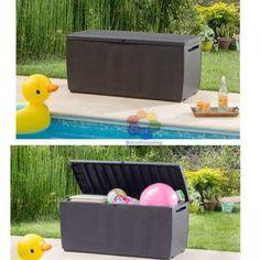 Keter Capri Plastic Rattan Garden Storage Box Anthracite or Brown Waterproof · $54.95