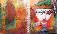Art Journal pages- Cindy M.Bell