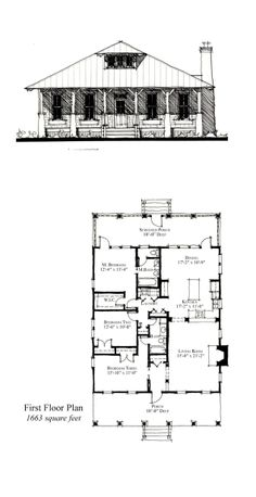 COOL House Plan ID: chp-49679 | Total living area: 1663 sq ft, 3 bedrooms & 2 bathrooms. #houseplan #carolina
