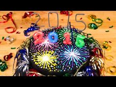 Fireworks New Year's Cake from Cookies Cupcakes and Cardio - YouTube