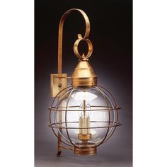 Northeast Lantern Onion 3 Light Outdoor Wall Lantern Finish: Dark Antique Copper, Shade Type: Clear Seedy