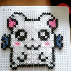 Bijou Hamtaro hama beads by tensartist Pony Bead Patterns, Kandi Patterns, Perler Patterns, Beading Patterns, 3d Perler Bead, Perler Beads, Dot Designs, Hamtaro, Raves