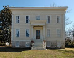 Bird Campbell House Sparta GA Hancock County Antebellum Greek Revival Landmark Photograph Copyright Brian Brown Vanishing North Georgia USA ...