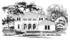 House Plan 67447 | Mediterranean    Plan with 3894 Sq. Ft., 5 Bedrooms, 4 Bathrooms, 2 Car Garage