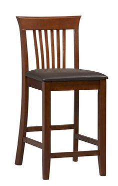 Add simple style and seating to your home bar or high top table with the Dark Cherry Triena Craftsman Center Stool. Find it at StacksAndStacks.com.