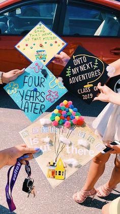 ) I don't own any of these photos Funny Graduation Caps, Graduation Cap Toppers, Graduation Cap Designs, Graduation Cap Decoration, Graduation Diy, High School Graduation, Funny Grad Cap Ideas, Disney Grad Caps, High School Memories