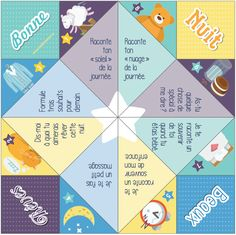 À plier et à utiliser avec les enfants à l'heure du coucher.  http://www.miditrente.ca/Midi-trucs/PDF_Midi-trucs/CoinCoin%20Dodo.pdf