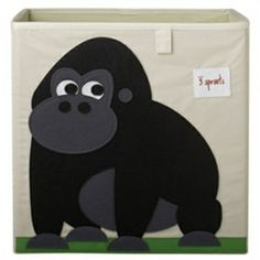 This 3 Sprouts Gorilla Storage Box is ideal in the nursery or children's bedroom for storing toys or clothes. The 3 Sprouts Gorilla storage box has sides reinforced with cardboard and is made from polyester with a polyester felt applique. Toy Storage Cubes, Kid Toy Storage, Storage Boxes, Toy Boxes, Cardboard Storage, Storage Containers, Nursery Storage Baskets, Bedroom Storage, 3 Sprouts