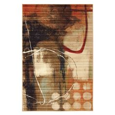 Amazing Mohawk Home Canvas Kinetic Source Printed Rug