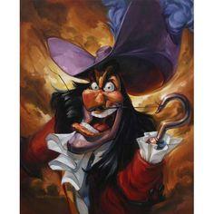 Feared Antagonist of Peter Pan - Captain Hook - Walt Disney Disney Pixar, Disney Villains, Disney Cartoons, Disney Love, Disney Magic, Walt Disney, Disney Stuff, Peter Pan And Tinkerbell, Peter Pan Disney