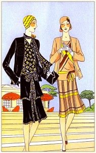 French vintage haute couture fashion by Drecoll-Beer and Redfern.   [Pip/Phil had money to spare. I imagine she bought some nice clothes.]