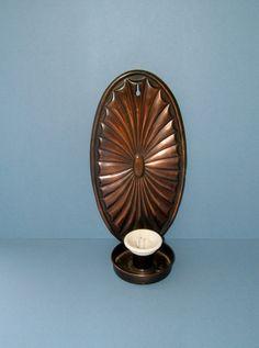 Vintage 1930s Art Deco Edwardian Copper Candle by Biminicrickets, $55.00