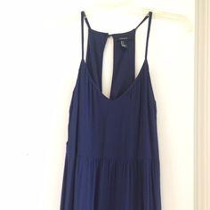 Navy Blue Open Back Maxi Dress Worn once! Dresses Maxi