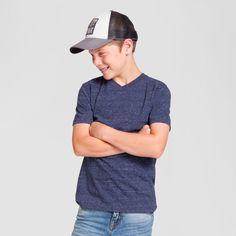 Boys' Heathered V-Neck T-Shirt - Cat & Jack, Boy's, Size: