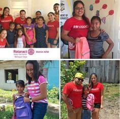 Rotaract Benque Distributes Backpacks