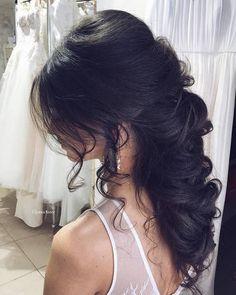 Wedding Hairstyles: Ulyana Aster Long Bridal Hairstyles for Wedding_26  See More: www.deerpearlfl #weddinghairstyles