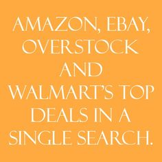 Comparizoom is great reason number 83 on Friday, August 08, 2014 --- Amazon, eBay, Overstock and Walmart's top deals in a single search