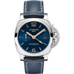 Luxury Panerai Luminor 1950 3 Days GMT Automatic Acciaio 42mm Boutique Blue Watch PAM00688