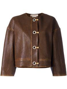 jaqueta marrom franja mamô