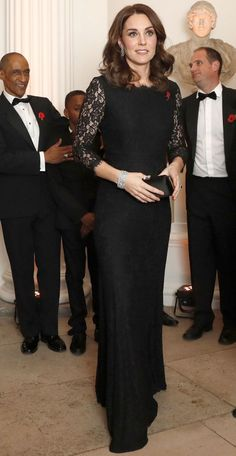 Kate in long dress at Anna Freud Gala 11/7/17