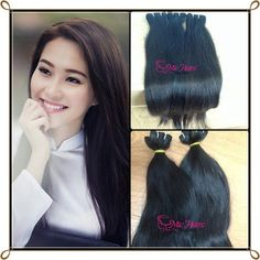 MICHAIR CECILIA VN: HOT MAIN PRODUCT (P.3) : NATURAL STRAIGHT WEFT HAI...