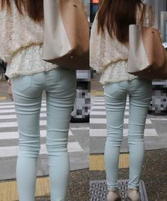 Jeans Pants, Denim Jeans, Skinny Jeans, Sexy Hips, Sexy Asian Girls, Beige Color, White Jeans, Sexy Women, Tights