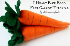 While Wearing Heels: I heart fake food - felt carrot tutorial
